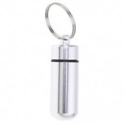 Ezüst pirula gyógyszer doboz tokja tartó kapszula palack kulcstartó Keych Q8I8