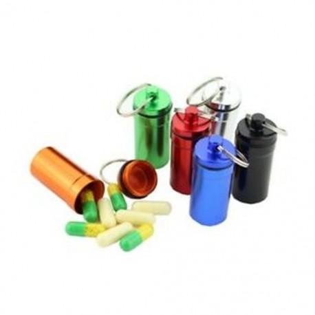 5X (teljes 6 színű, mini tartályba tartozó kulcstartó vízálló alumínium gyógyszertabletta B8D7