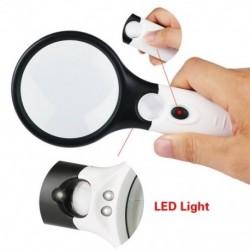 3 LED Light 45X kézi nagyító olvasó nagyítólencse ékszer Lo W5X3