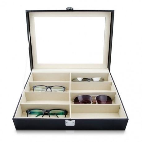 Szemüveg napszemüveg tárolódoboz műbőr szemüveg vitrin Storag Z5E7