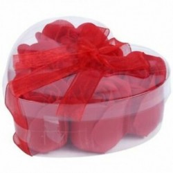 6 db vörös illatú fürdőszappan rózsaszirom a J8C4 szív alakú dobozban