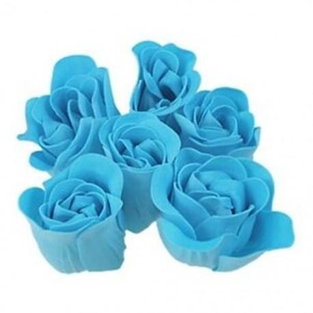 1X (türkizkék rózsa kialakítású, illatos szappanszirom 6PCS S3U7)