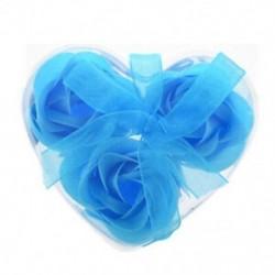 3 db rózsaszínű baba kék fürdő szappan szívdoboz G1V9