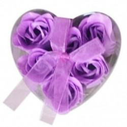6 darab lila fürdőkád zuhany rózsa szirom szappan virágos szappan szappan I8Y1