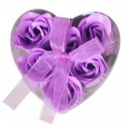 6 darabos lila fürdőkád zuhanyzó rózsaszirom szappan Virágos szappan szappan K8B2