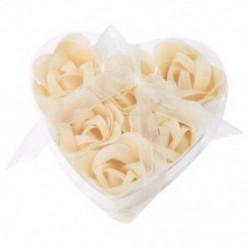 6 db fürdõzuhany le Fehér Rózsa virágfürdő szappanszirmokkal, szív alakú J7Y5
