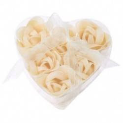 1X (6 db fürdõzuhany le Fehér Rózsa virágfürdő szappanszirmokkal, szív alakú T7I1