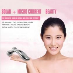 1X (3D kézi V arcmasszázs masszázs henger Artifact 2 kerek masszázs Beauty Fac O6M1
