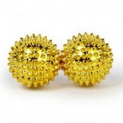 3X (1 pár kis arany imám tenyérmasszázs gyöngyök 32 mm I7E5)