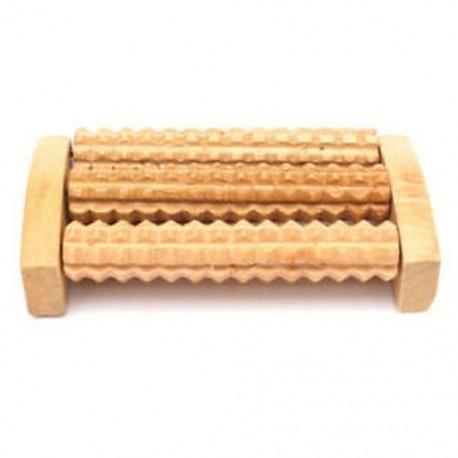 3X (Új fa lábgörgő faápolási masszázs Reflexológia Relax Relief MassagM6U4