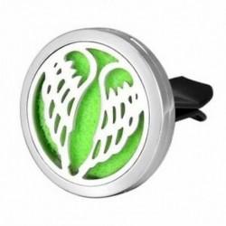 Autó légfrissítő aromaterápiás illóolaj diffúzor - Angel Wings Stainle G5A3