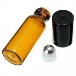 10 db 10 ml üvegfém acél gömbgörgő palackok Parfüm illóolaj L9T9