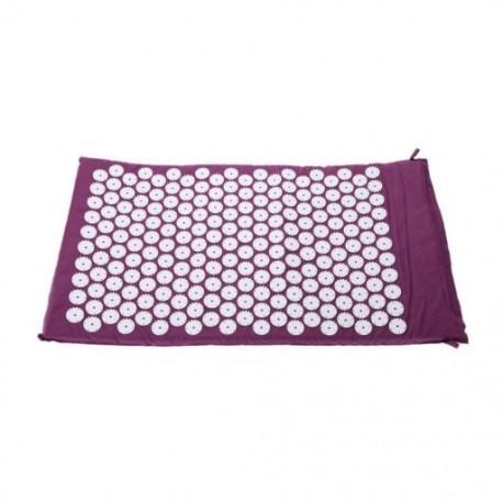 2X (Szőnyegpadló akupresszúrás akupunktúrás jógamasszázshoz   lila hordtáska I1X9)