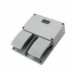 1X (lábkapcsoló YDT1-16 alumínium héj szürke dupla pedál kapcsoló szerszámgépJ7K4)