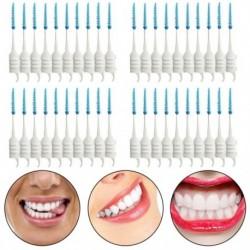 40 db fogak fogpiszkálói fogselyem fogok Interdentális ecsetpálca Tooth Cle E4I5