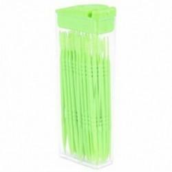 1X (50 db műanyag fogpiszkáló kétutas fogpiszkáló interdentális kefetisztítók P D3E4
