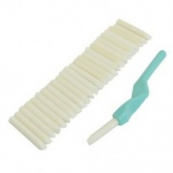 SODIAL (R) fogszabályozó fogak tisztító fehérítő cián műanyag bot 25 darabos radír N1R7
