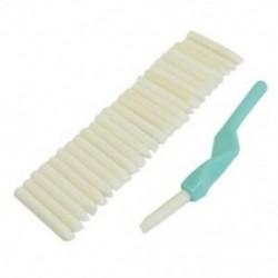 1X (SODIAL (R)) fogszabályozó fogak tisztító fehérítő cián műanyag pálca, 25 db Eras J2A4