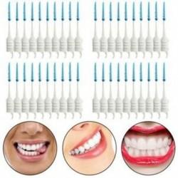 1X (40 db fogak fogpiszkálói fogselyem fogok interdentális ecset tapintó fogak R9T5