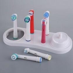 1X (Elektromos fogkefék, tartótartó, fehér fogkefefejek F7W2
