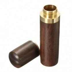 Ebony fa fogpiszkáló tartó vödör Mini doboz túrázás hordozható kézműves kézműves T0C7
