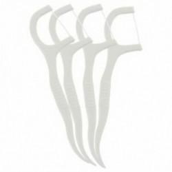6X (50 db műanyag fogpiszkáló fogselyem fehér I6C7)