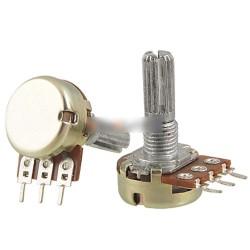 2PCS 5K Ohm B5K csuklós tengelyes lineáris forgó kúpos potenciométer