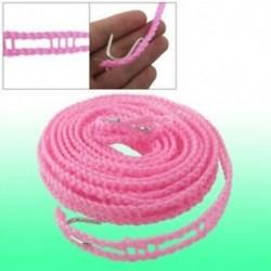 5M 16.4ft rózsaszínű nylon ruházat Kötél vonal ruházat J2O4