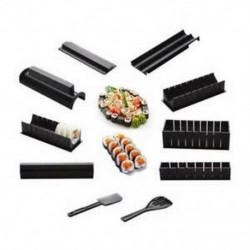 10 kép / készlet Diy Sushi készítő Onigiri Mold Rice Mold Kit Konyha Bento Acce D1V4