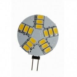2X (G4 4W 15 LED 5630-SMD meleg fehér fény DC / AC 12V T8S9)