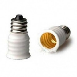 1X (6-Pack E12 - E14 White Bulb Converter LED lámpás tartó lámpa adapter Soc G6H3