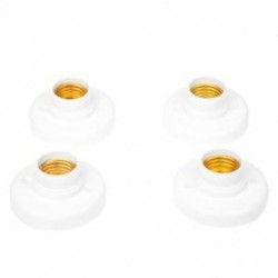 4 db-os fehér AC250V 6A E27 csavar izzólámpa aljzat I9O7 K6S0
