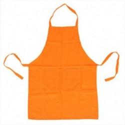 Sima kötény elülső zsebében készült konyhai főzőkészülékkel, narancs T7F7 G4C0