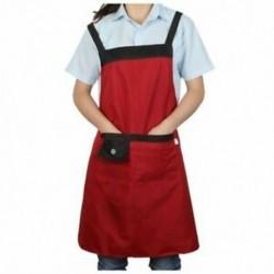 Chef Waiter 2 zsebbel Bib kötény piros Z4N6