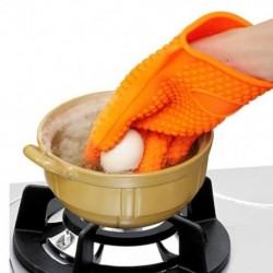 Konyhai hőálló szilikon kesztyűs sütőedényes sütő BBQ főzés Mi E2C9