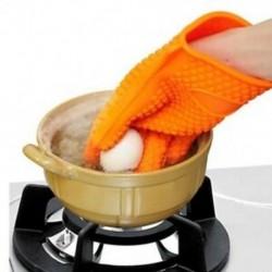 Konyhai hőálló szilikon kesztyűs sütő edénytartó sütés BBQ főzéshez Mi Q1M5