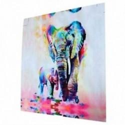 Modern vászon fali dekoráció művészet festés elefántok festmény - 20cm Y3R4