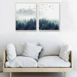 2X (2db / készlet Észak-Európa erdészeti kreatív nappali dekorációs Painti H2K3