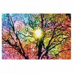 4X (pszichedelikus trippi fa absztrakt nap művészet selyem ruhával poszter lakberendezés 50Y2E6