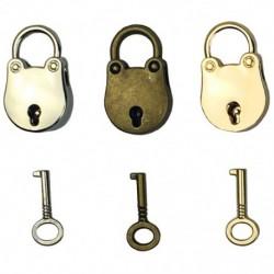 3db-os keverék színes antik stílusú archaizált lakatok kulcstartóval P9H3 kulcsokkal