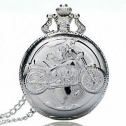 Nagy finom láncú ezüst zsebóra Stílusos és gyönyörű személyiségű moto U5I6