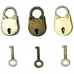 2X (3db-os keverék színes antik stílusú archaizált lakatok kulcstartóval J2O5 kulccsal