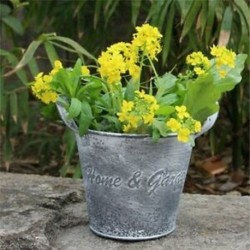 3X (Vintage kézműves virágbolt Vasvirág vödör virágtartó Decorati B2S6
