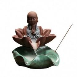 Lakberendezés A kis szerzetes lótuszvirág-cenzúra feketeáramú füstölők kúpjai V1J3