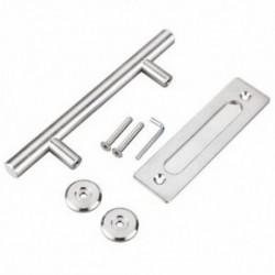 2X (304 rozsdamentes acél csúszó pajta ajtóhúzó fogantyú faajtó fogantyú ajtó D4L2