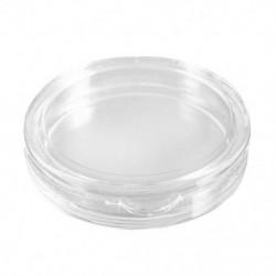 10 db kis, kerek, átlátszó műanyag érmekapszula-doboz, 24 mm R3B2 Y6S8