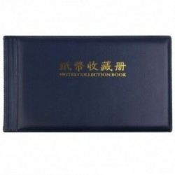 Bankjegypénz gyűjtők Album Pocket Storage 30 oldal Royal blue I6C4