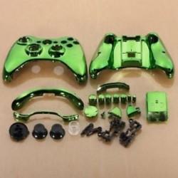 Zöld króm egyedi vezeték nélküli vezérlő cserehéj készlet az Xbox L4Y5-hez