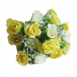 Kiváló minőségű, 21 apró rózsavirág szimulációja, dekoratív fl D7O5 díszítéssel