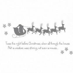 5X (Szán 5 kis szarvas hópelyhek &quot Twas the Night Christmas Christmas&quot  englis I6W7